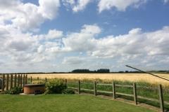 Stunning rural views from the garden