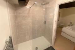 The walk-in shower in the en-suite