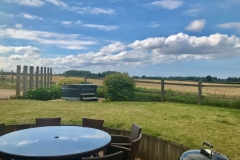 The garden with spectacular views and big Norfolk Skys