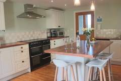 The kitchen is well equipped & spacious