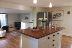 The family snug is off the kitchen, ideal for the children