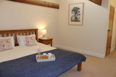 Super king double bed with Egyptian cotton sheets