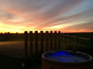 Beautiful sunsets at Kings Beck Barn